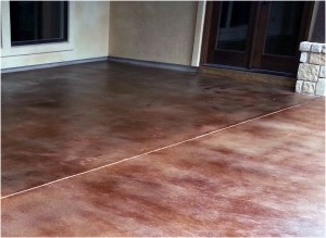 Stained Concrete Floor after re-staining